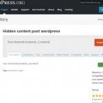 Plugins ẩn nội dung trong bài viết wordpress